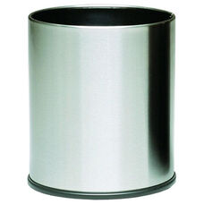 4 Gallon Executive Indoor Wastebasket - Stainless Steel