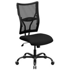 HERCULES Series Big & Tall 400 lb. Rated Black Mesh Executive Swivel Chair