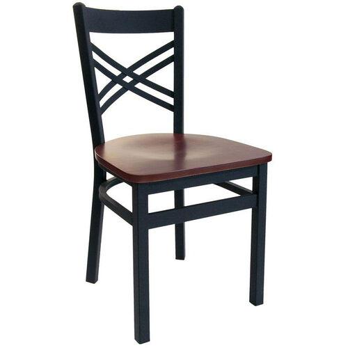 Akrin metal cross back chair cblw sb