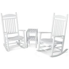 POLYWOOD® Jefferson 3-Piece Rocker Set - White