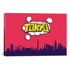 Comic Book Skyline Series: Tokyo by Octavian Mielu Gallery Wrapped Canvas Artwork - 26