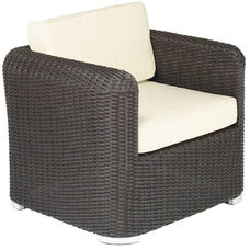Apollo Beach Collection Outdoor Wicker Arm Seat with Sunbrella Cushions - Indo
