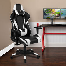 BlackArc X20 Gaming Chair Racing Office Ergonomic Computer PC Adjustable Swivel Chair with Fully Reclining Back in Black LeatherSoft