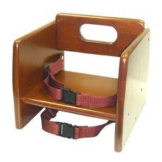 Walnut Finish Wood Stacking Booster Seat