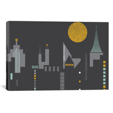 Cityscape by Flatowl Gallery Wrapped Canvas Artwork