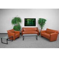 """HERCULES Majesty Series Reception Set in Cognac with <span style=""""color:#0000CD;"""">Free </span> Tables"""