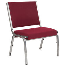 HERCULES Series 1500 lb. Rated Burgundy Antimicrobial Fabric Bariatric Medical Reception Chair