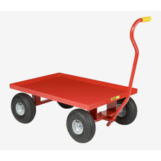 Solid Steel Lipped Deck Red Powder Coated Wagon Truck - 24