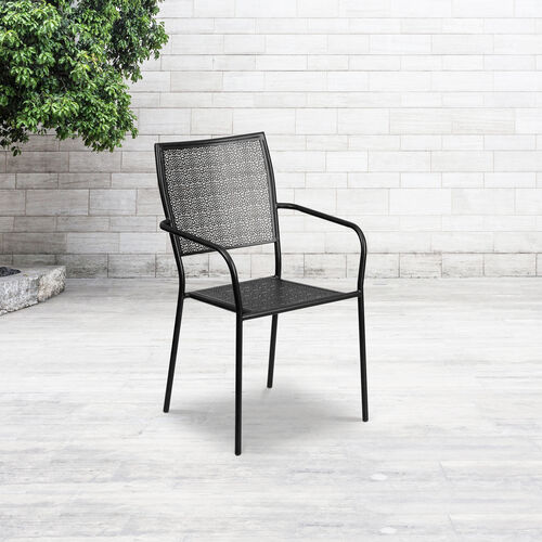 Our Commercial Grade Indoor-Outdoor Steel Patio Arm Chair with Square Back is on sale now.