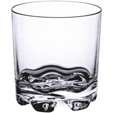 10 oz Rock Glass with Stackable Heavy Base in Clear Polycarbonate