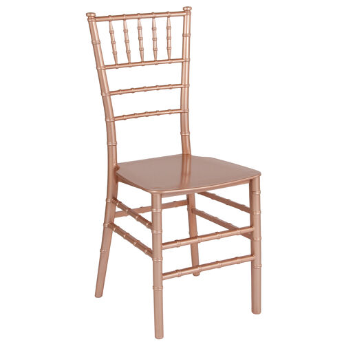"""Our HERCULES Series Rose Gold Resin Stacking Chiavari Chair with <span style=""""color:#0000CD;"""">Free </span> Cushion is on sale now."""