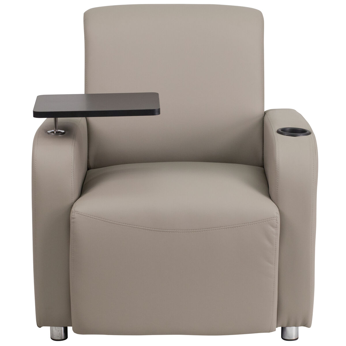Gray Leather Tablet Chair Bt 8217 Gv Gg
