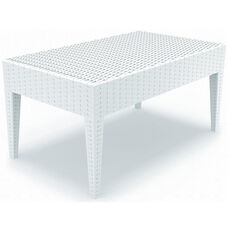 Miami Outdoor Wickerlook Resin Coffee Table - White