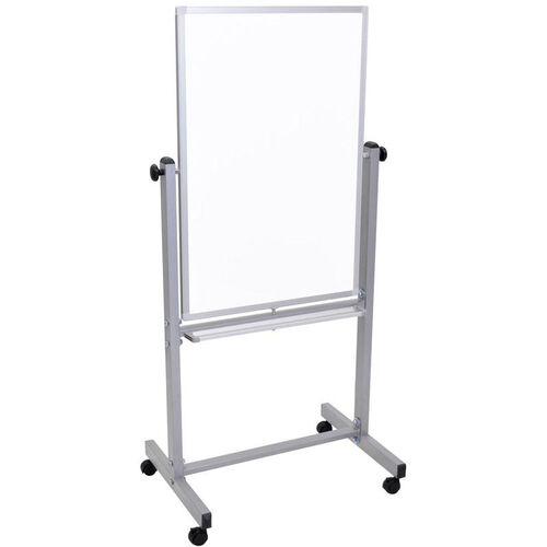 Our Double Sided Magnetic Mobile White Board with Chrome Finished Aluminum Frame - 27