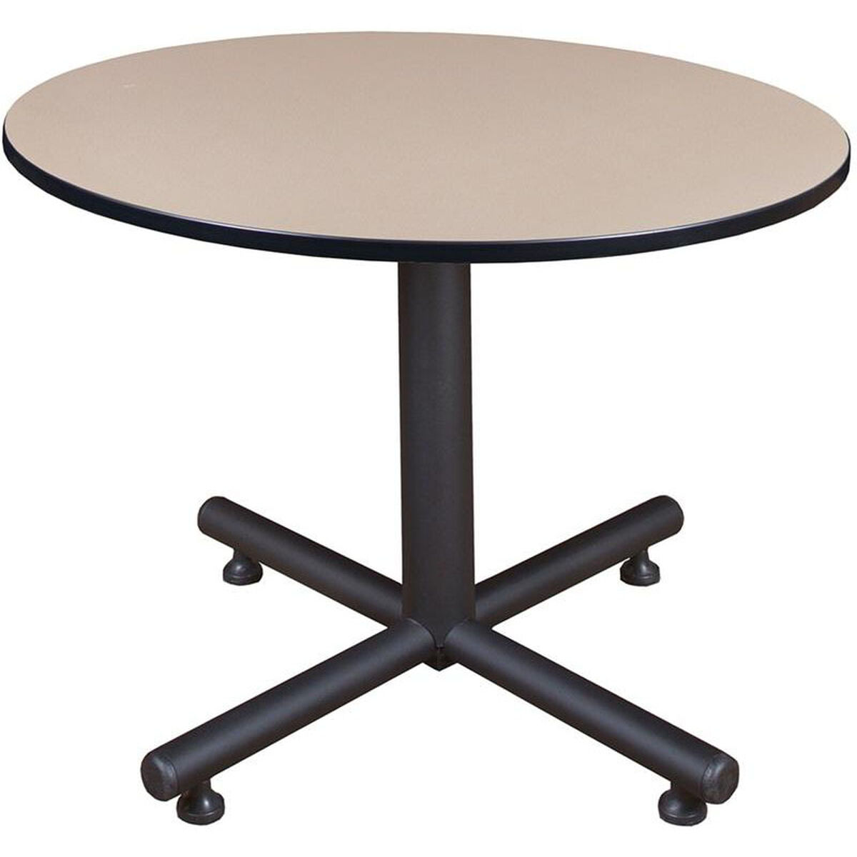 Kobe 48 Round Laminate Breakroom Table With Pvc Edge Beige