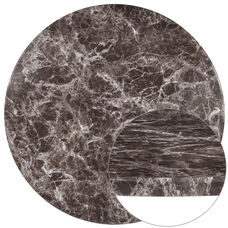 """42"""" Round Gray Marble Laminate Table Top"""