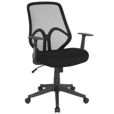 Salerno Series High Back Black Mesh Chair with Arms
