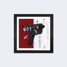 Super 8 by Famous When Dead Artwork on Fine Art Paper with Black Matte Hardwood Frame - 24