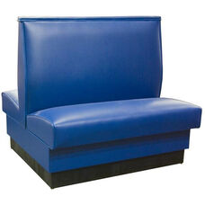 Quick Ship 42''H Fully Upholstered Plain Double Back Booth