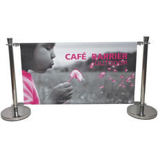 Heavy Duty Stainless Steel Cafe Barrier - 37.6