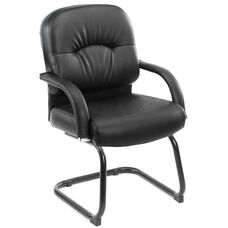 Mid Back Caressoft™ Executive Guest Chair - Black