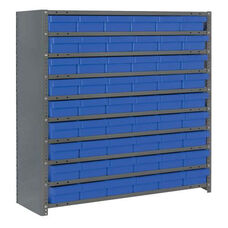 7 Shelf Closed Unit with 54 Bins - Blue