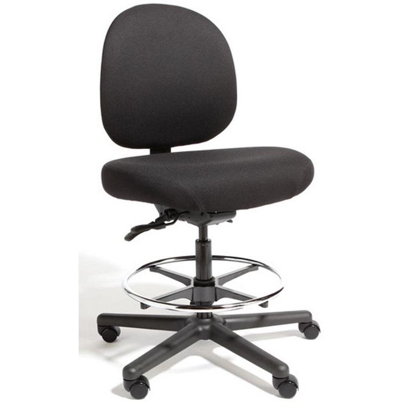 Gentil Our Triton Max Large Back Mid Height Drafting Cleanroom ESD Chair With 500  Lb.