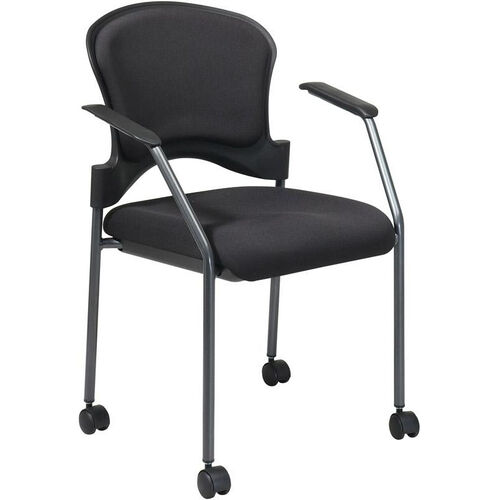 Our Pro-Line II Upholstered Contour Back Stacking Visitors Chair with Lumbar Support and Casters is on sale now.