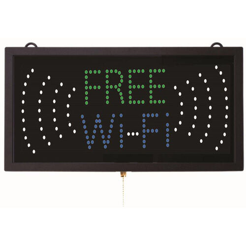 Our High Visibility LED FREE WI-FI Sign - 9.75