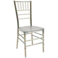 1000 lb. MAX Resin Steel Core Chiavari Chair - Set of 2 - Ice Crystal