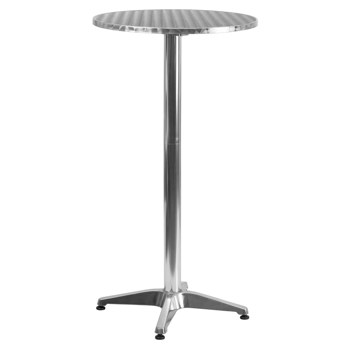 255rd aluminum fold bar table tlh 059a gg our 2325 round aluminum indoor outdoor folding bar height table with base is watchthetrailerfo