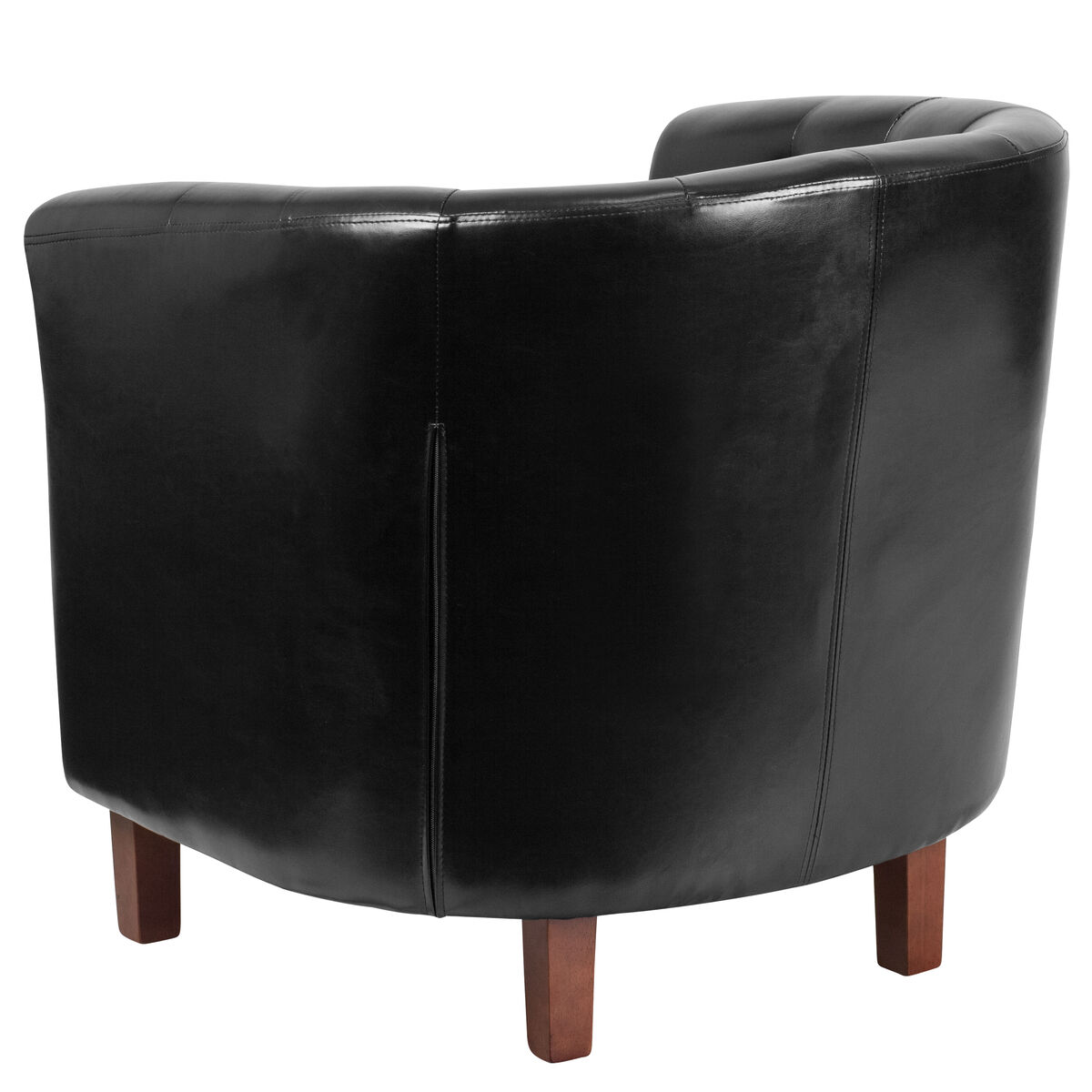 Our Hercules Cranford Series Black Leather Tufted Barrel Chair Is On Now