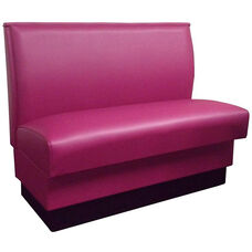 Quick Ship 42''H Fully Upholstered Plain Single Back Booth
