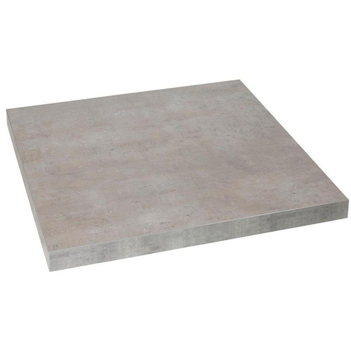 Square Table Top Indoor Melamine MARCO-24x24-CONCRETE ...