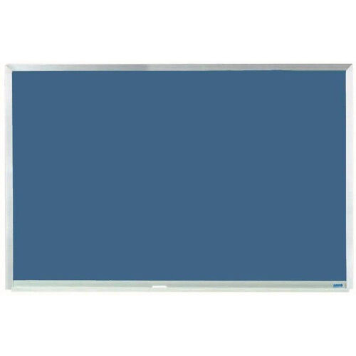 Blue Porcelain Chalkboard with Aluminum Frame - 24