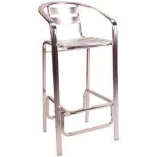 Slat Back & Seat Aluminum Barstool