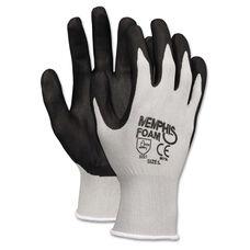 Memphis™ Economy Foam Nitrile Gloves - Medium - Gray/Black - 12 Pairs
