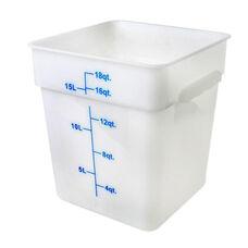 18 Quart Plastic Square Food Storage Container in White