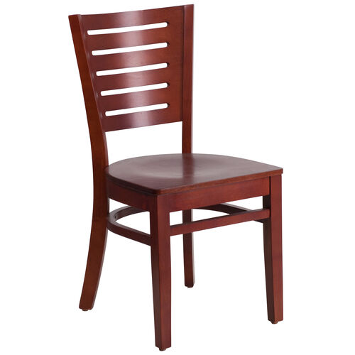 Our Mahogany Finished Slat Back Wooden Restaurant Chair is on sale now.