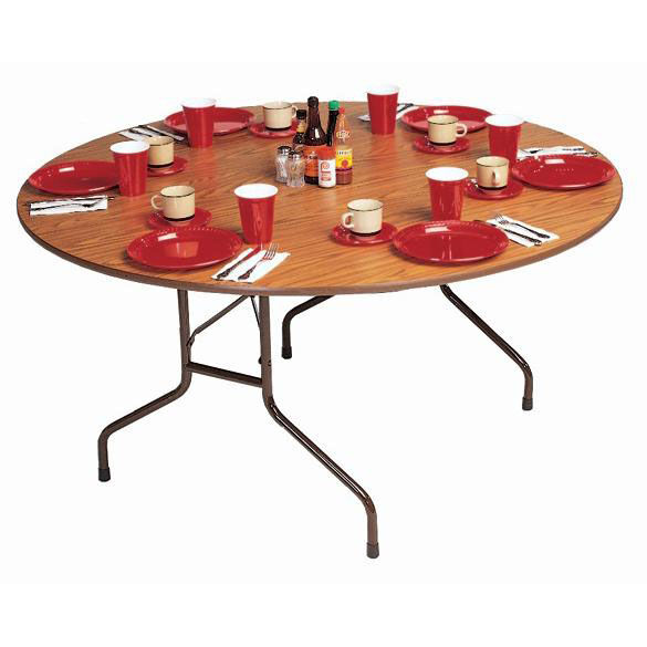 ... Our Standard Fixed Height Solid Plywood Core Oval Folding Table   60u0027u0027  Diameter Is