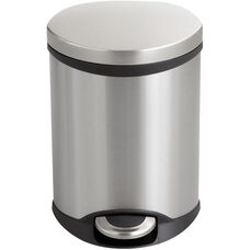 Ellipse Step on Medical Trash Receptacle - Stainless Steel