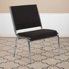 HERCULES Series 1500 lb. Rated Black Antimicrobial Fabric Bariatric Antimicrobial Medical Reception Chair