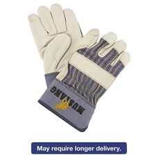 Memphis™ Mustang Leather Palm Gloves - Blue/Cream - Large - 12 Pairs