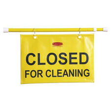 Rubbermaid Commercial Products Closed for Cleaning Hanging Safety Sign - 44