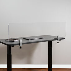 Clear Acrylic Desk Partition (Hardware Included)