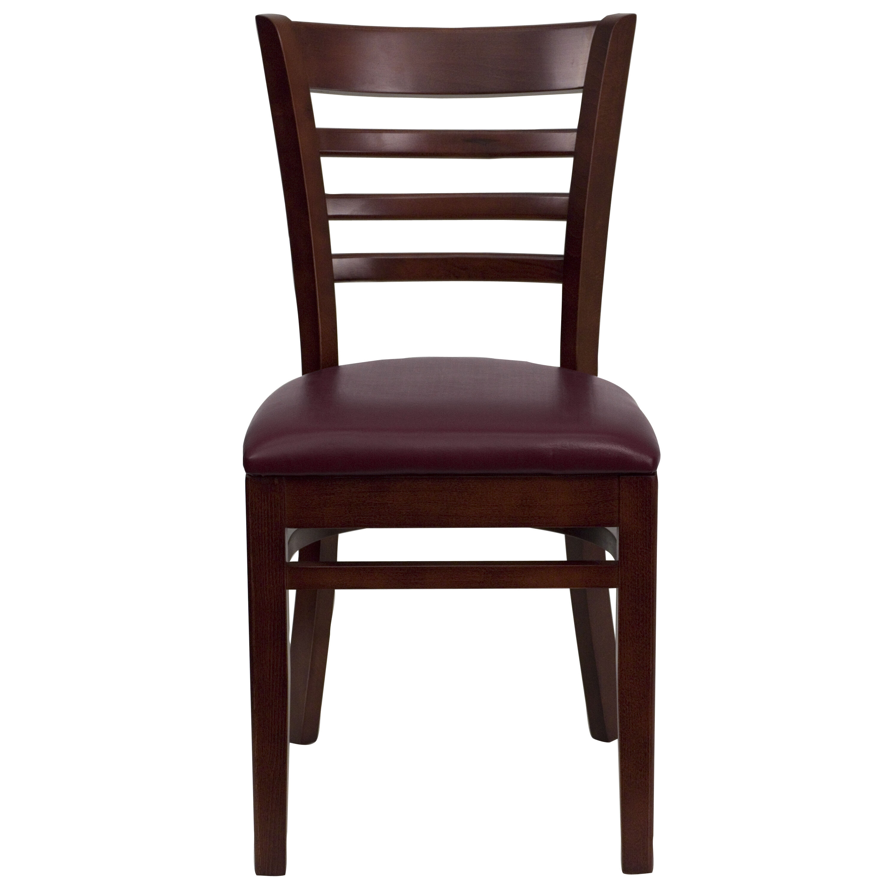 ... Our Mahogany Finished Ladder Back Wooden Restaurant Chair With Burgundy  Vinyl Seat Is On Sale Now ...
