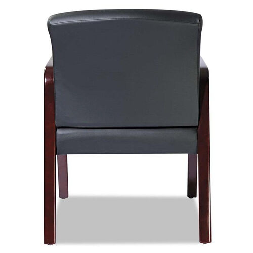 Our Alera® Reception Lounge Series Guest Chair - Mahogany/Black Leather is on sale now.
