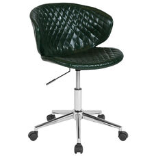 Cambridge Home and Office Upholstered Low Back Chair in Green Vinyl