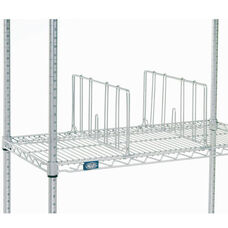 Single Chrome Shelf Divider - 24