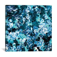 Floral Fantasy - Aqua by Julia Di Sano Gallery Wrapped Canvas Artwork